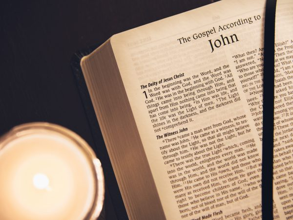 bible open to gospel of john